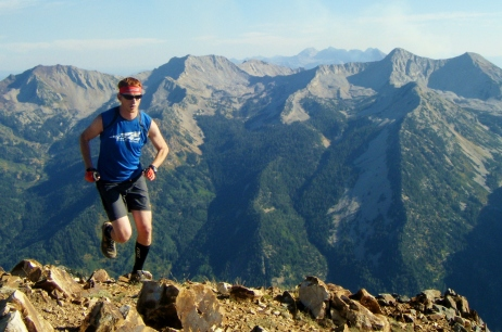 Golden Harper Running the Broads Fork Twin Peaks in the Wasatch Mountains
